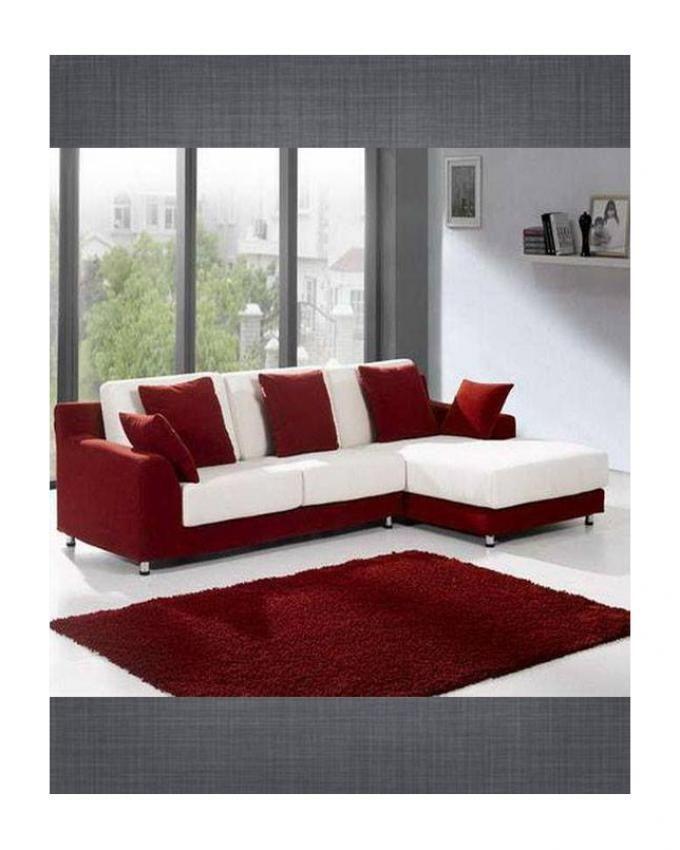Generic Modern L Shape Sofa - Red & White Price in Egypt | Jumia ...