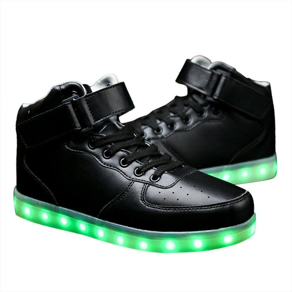 Kokobuy Men Led Lighting High Top Light Up Shoes Flashing