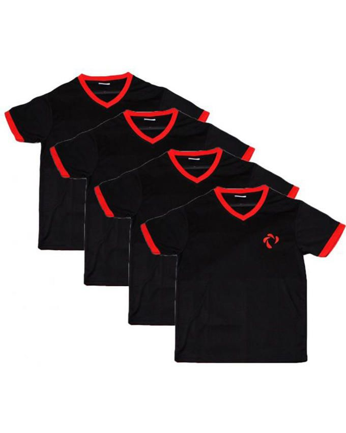 Didos DMTS-007 Men V Neck Team Shirt - Set Of 4 - Large