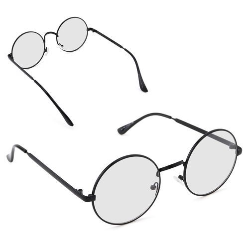 25cfbfb4ed90 Generic Big Round Metal Optical Frame Vintage Glasses Frame Plain Mirror  Clear Lens Women Men Retro Eyeglass