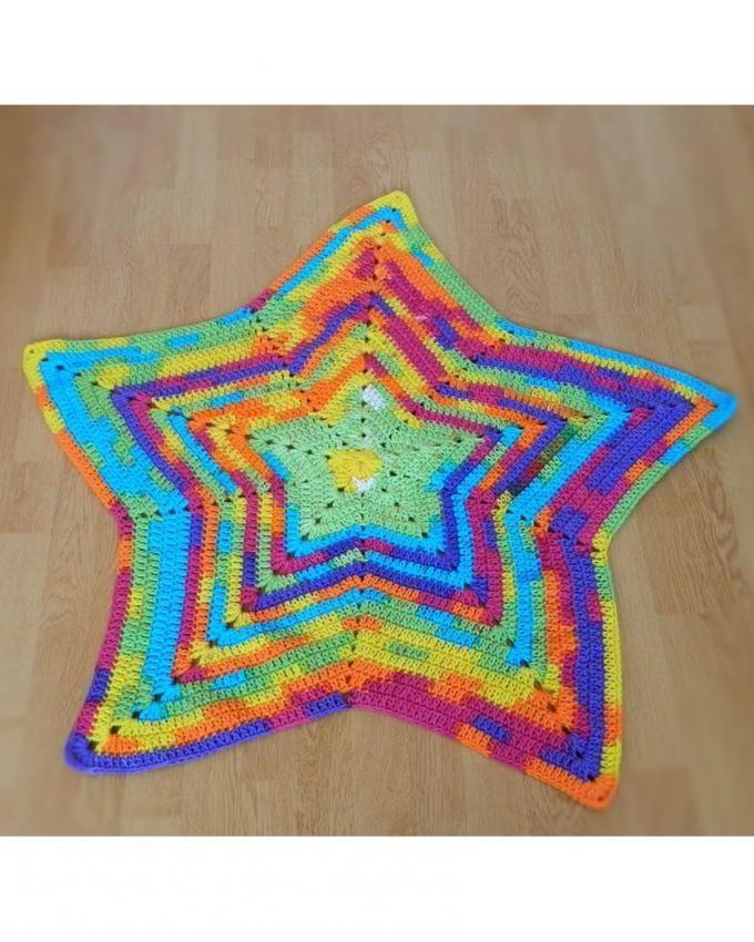 Babybee Handmade Crochet Baby Blanket - Star  f19afcb8dc4d