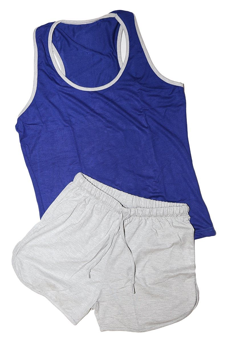 3adb14f5a75c Generic Hot Short Women Pajama - Blue   Light Grey