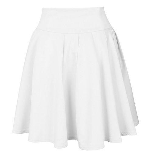 d1763b5cd Eissely Womens Party Cocktail Mini Skirt Ladies Summer Skater Skirt- White