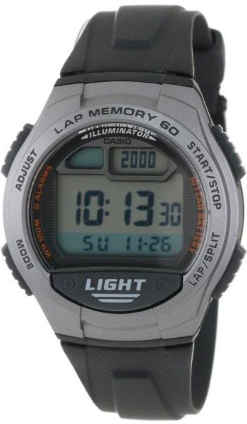 76164724d7bce Casio W-734-1a Rubber Watch – Black