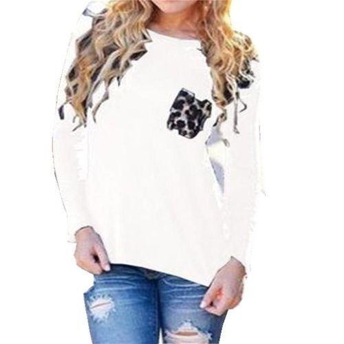 eb2dcb7a54a2 Fashion ZANZEA Autumn Spring Women Blouses Casual Tee Tops Long ...
