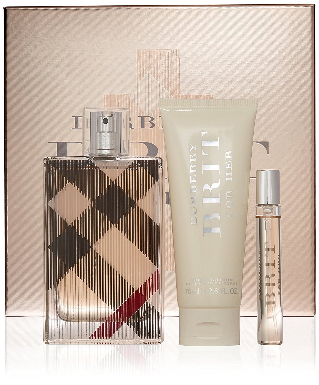 01d604393f2a Burberry Brit Gift Set – For Women – EDP – 100 ml + Body Lotion – 75 ...