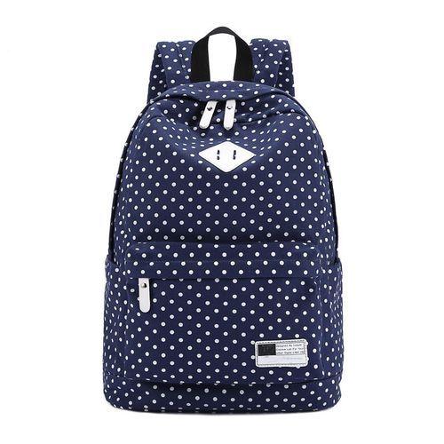 Buy Fashion Blicool Travel Wallet Canvas Backpack Polka Dot School Shoulder  Wallet Travel Rucksacks Dark Blue 50c16c5ad7b47