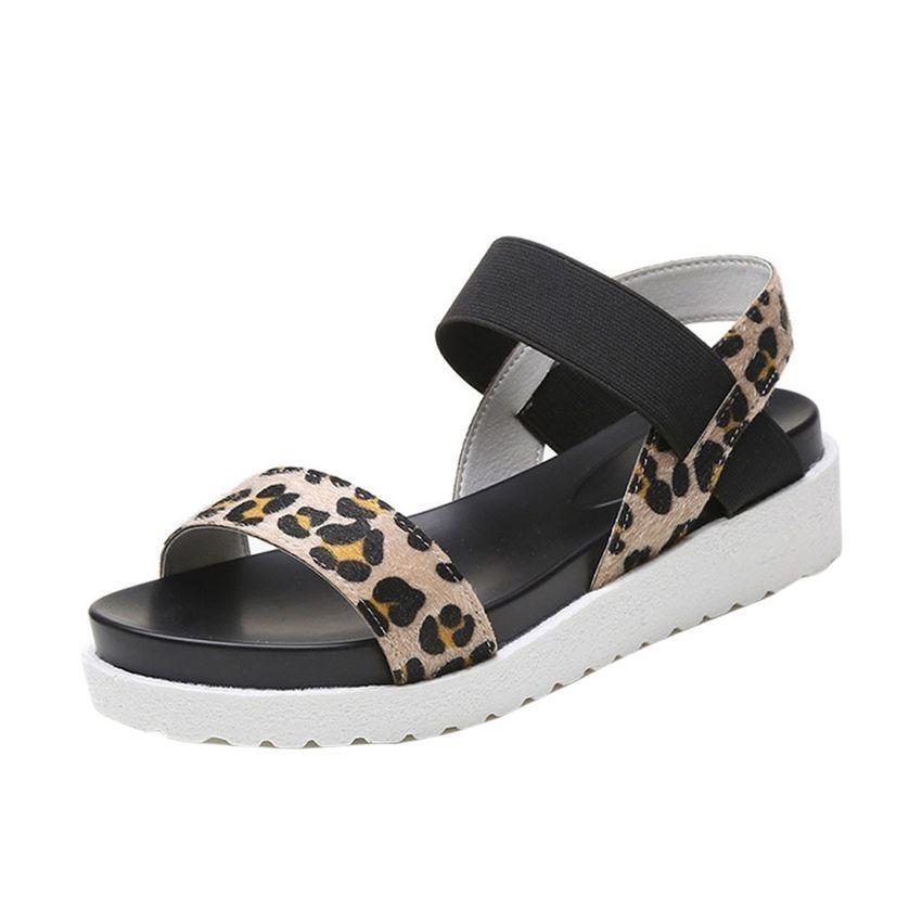 d0be68848cefb2 Neworldline Ashion Sandals Women Aged Leather Flat Sandals Ladies Shoes-Brown  (EU Sizing)