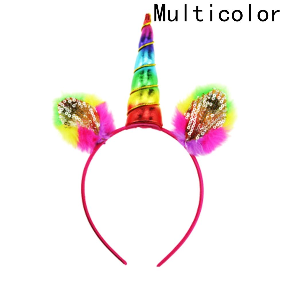 Fashion Magical Unicorn Horn Head Party Kid Hair Headband