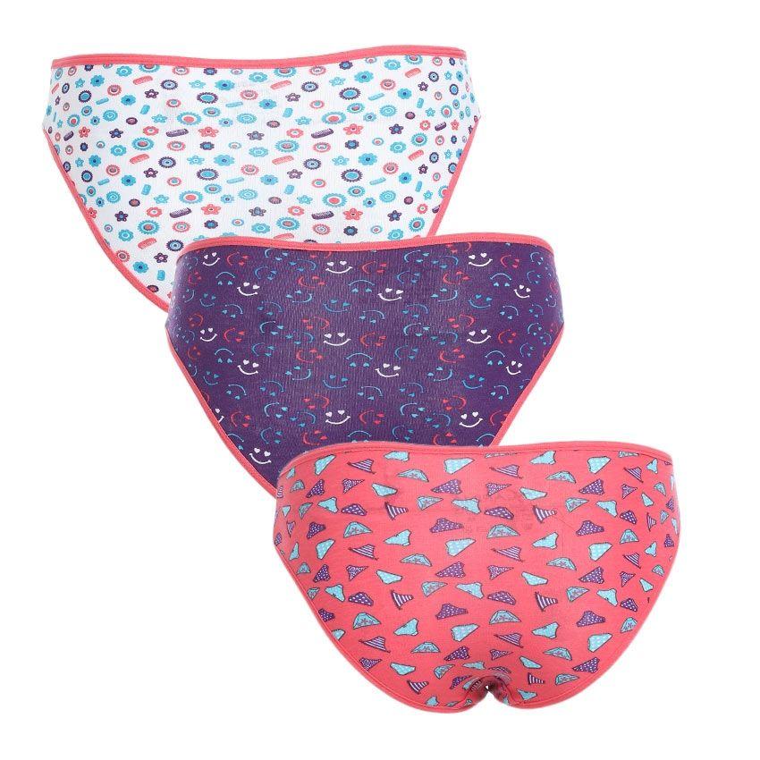 carina Cotton Bundle Of 3 Patterned Slip On Underwear - Multicolour ... ae1d676a4