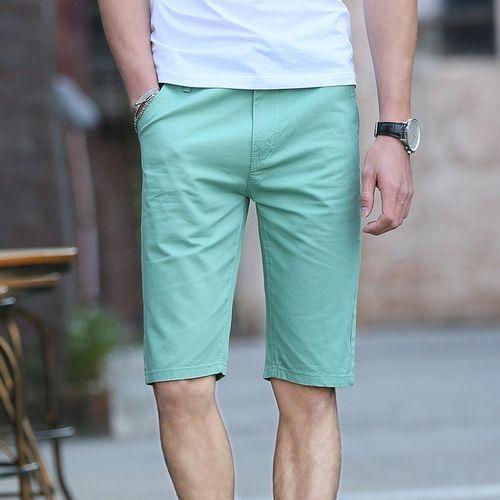 89cf65de3323 Yingwoo Trousers Hot Sale Summer Leisure Mens Short Pants Casual Shorts For  Men Natural Linen Trousers-green