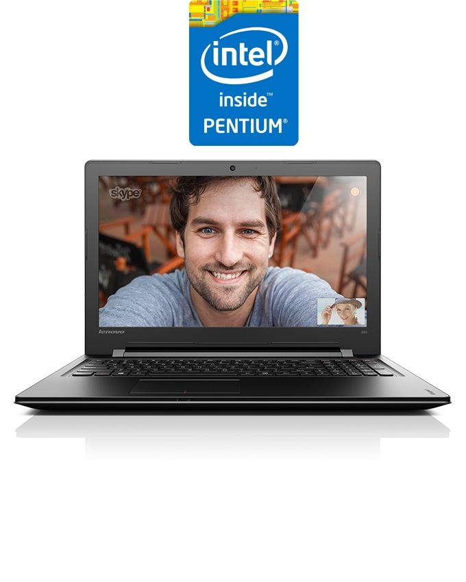 "Lenovo Ideapad 300-15IBR Laptop - Intel Pentium - 4GB RAM - 1TB HDD - 15.6"" HD - 1GB GPU - DOS - Black"