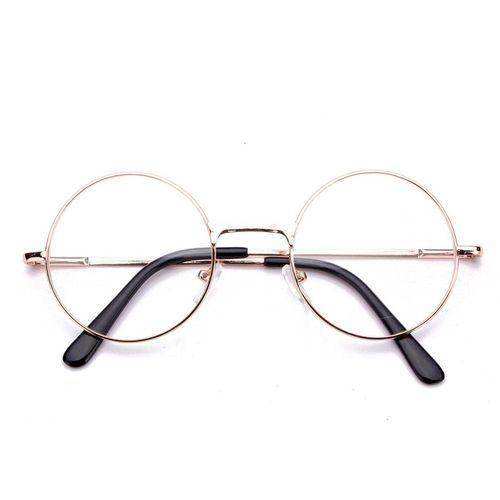 bcb6a7ebaa Buy Fashion Men Women Presbyopic Round Reading Glasses Metal Flat Mirror  Black Eyeglass +1.5 Gold