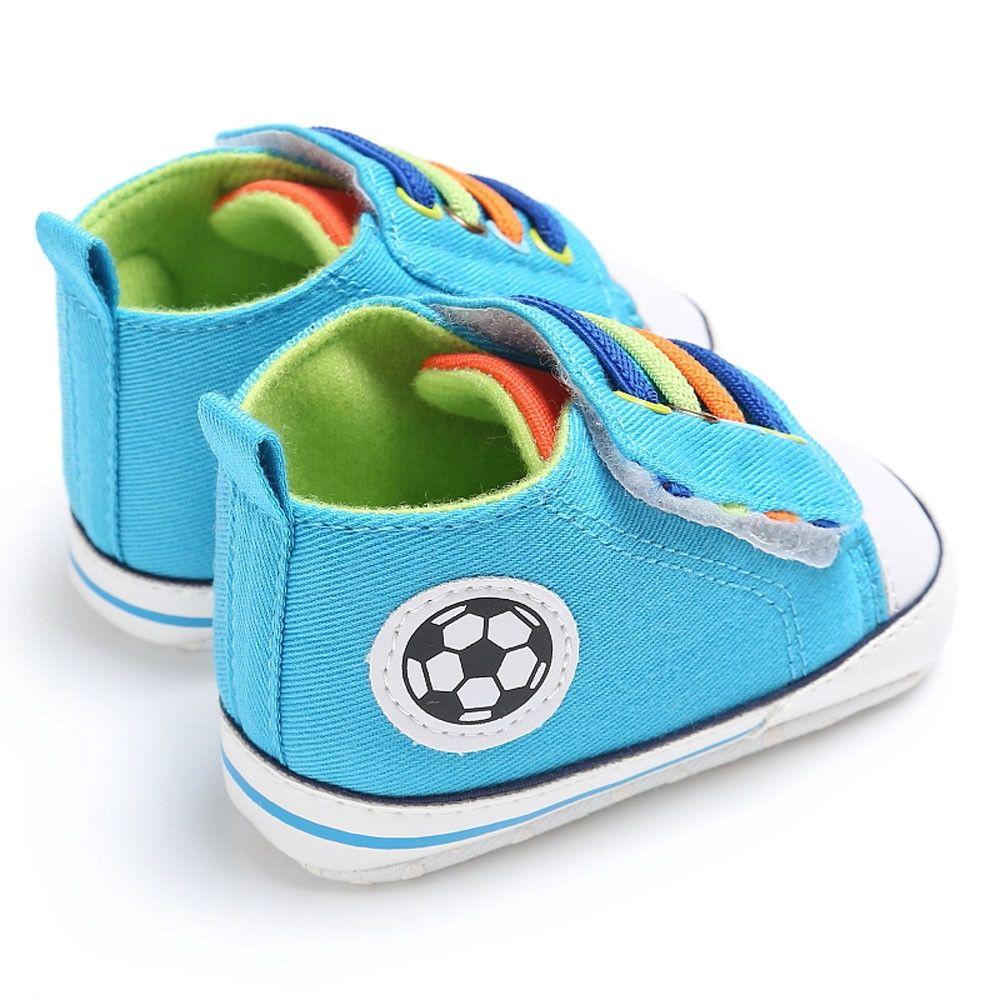 720e3d5fc902 Yiqu Baby Shoes Boy Girl Newborn Crib Soft Sole Shoe Sneakers SB 1-Sky Blue