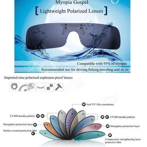 52ef6d4fbb Buy Universal UV400 Polarized Cilp On Sunglasses Driving Riding Night  Vision Lenses For Myopia Glasses Mercury