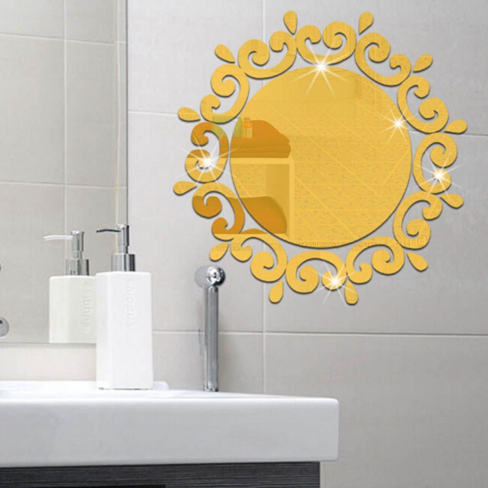 Universal hot sale 3d stereoscopic mirror wall sticker