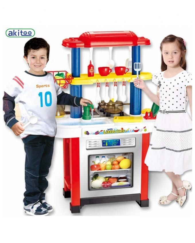 Generic Play Kitchen Set Abs Plastic Kid Food Fruit Cooking Toys Role Children Cosplay Educational Ablility Develop Toy