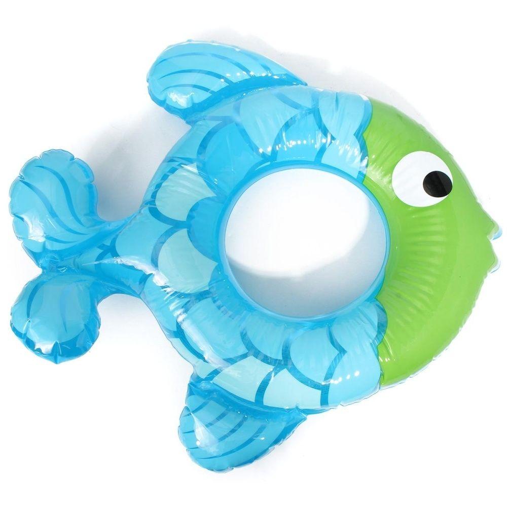 Universal Fish-shaped Inflatable Baby Swimming Ring Swim Bath Pool ...