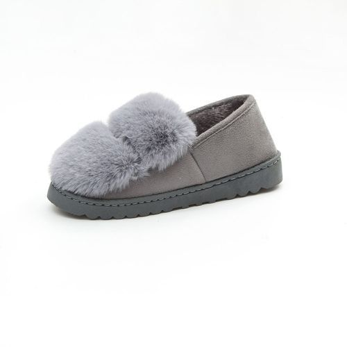 7391a0ca2e7e Neworldline Women Warm Flats Shoes Snow Women Autumn Winter Shoes Fashion GY  36-Gray 36-40