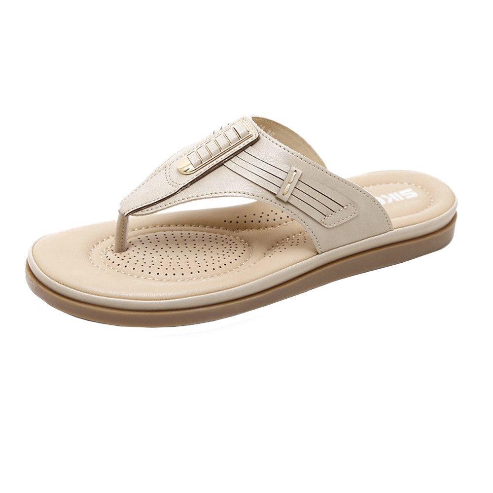 23fdda929a963f Buy Fashion Summer New Sandals Womens Shoes Bohemian Wedge Flops Buckle Beach  Sandals in Egypt