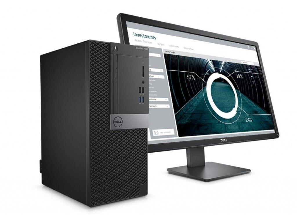 """Dell OptiPlex 7040 MiniTower Desktop - Intel Core i5-6500, 500GB, 4GB, DOS  + Dell 18.5"""" 1916HV"""