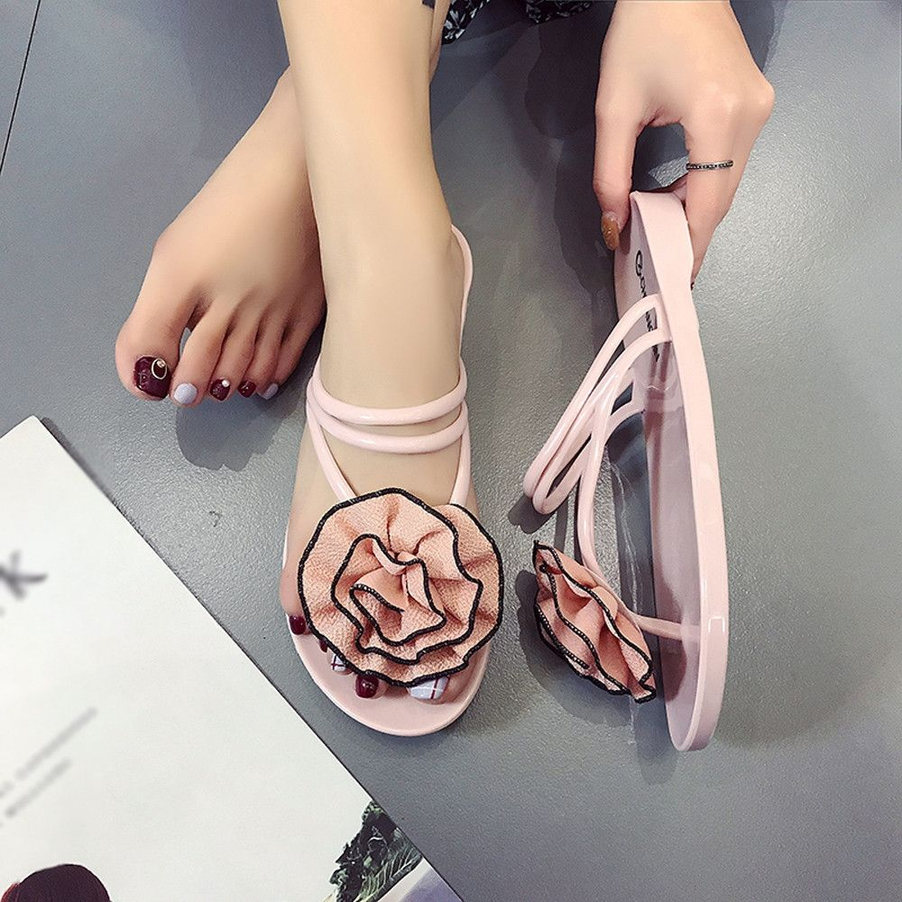 553536b1a915af Buy Generic Tcetoctre Women Flowers Summer Sandals Slipper Indoor Outdoor  Flip-flops Beach Shoes-