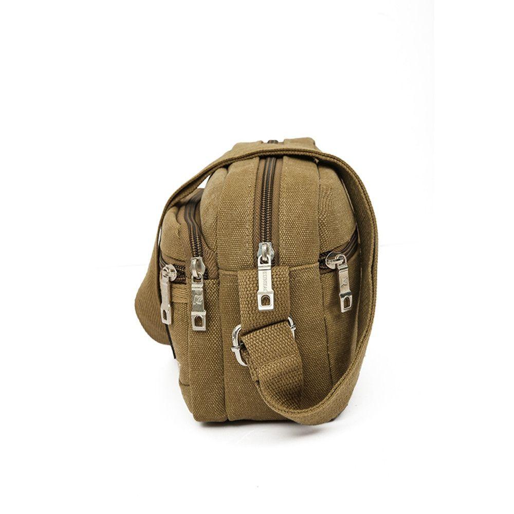 ef8788f5966 Neworldline Men s Travel Bags Cool Canvas Bag Fashion Men Messenger Bags  Shoulder Bags KH-Khaki