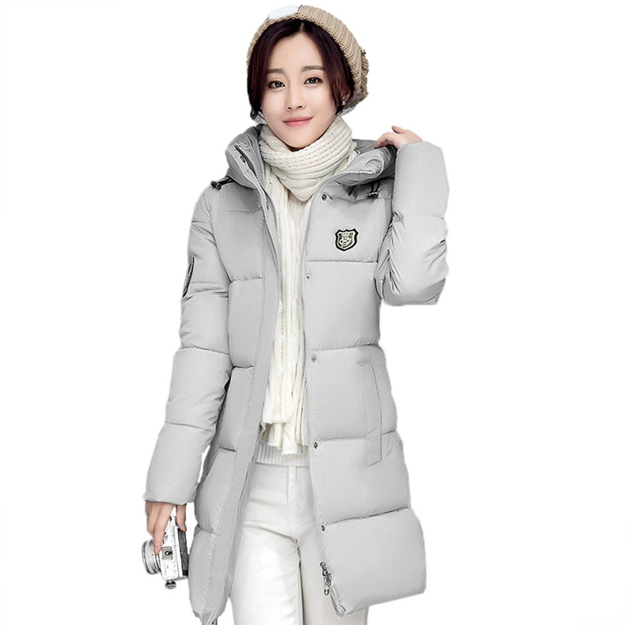 f6997a735 Fashion Middle Long Type Women Coat Fashion Hooded Down Jacket Cotton  Padded Warm Coat