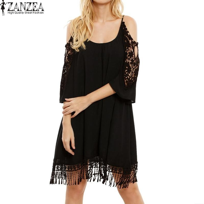 269967e23458 ZANZEA ZANZEA Plus Size S-5XL Women Off Shoulder Casual Loose Tops ...