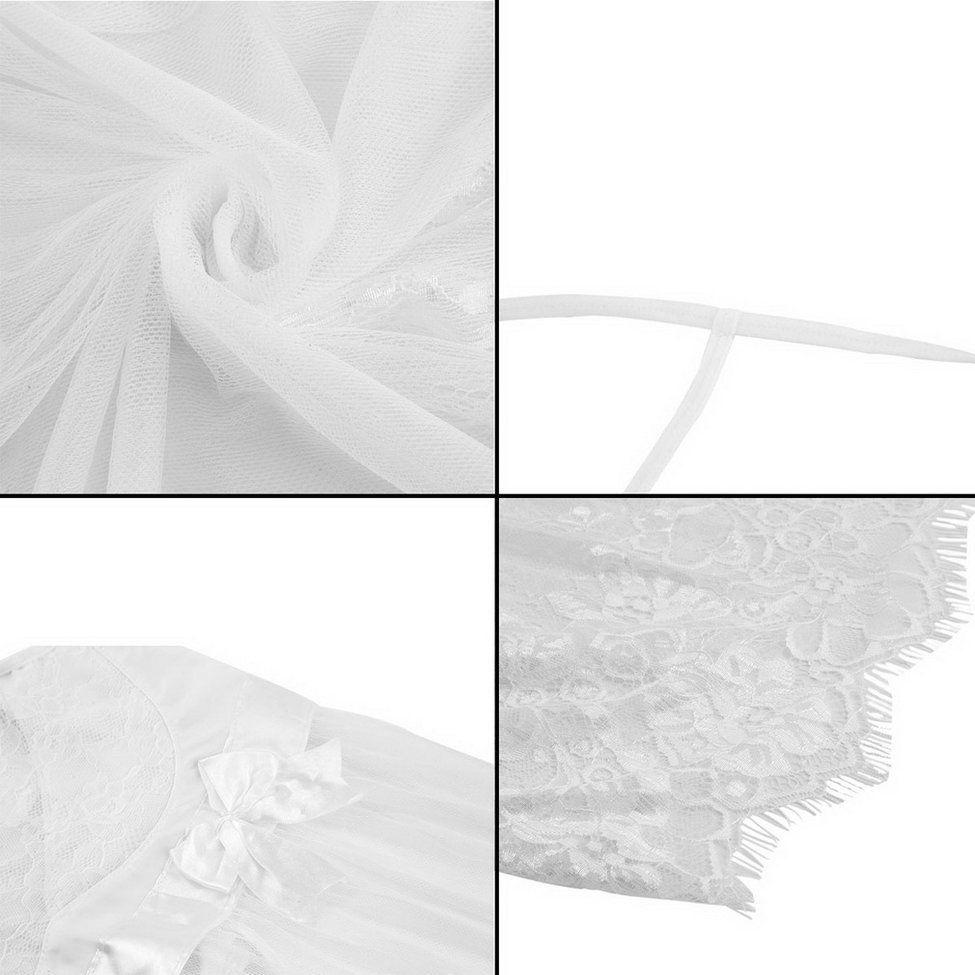 0ec3409d54ac Allwin Sexy Lace Lingerie Dress White Nightwear Underwear Babydoll ...