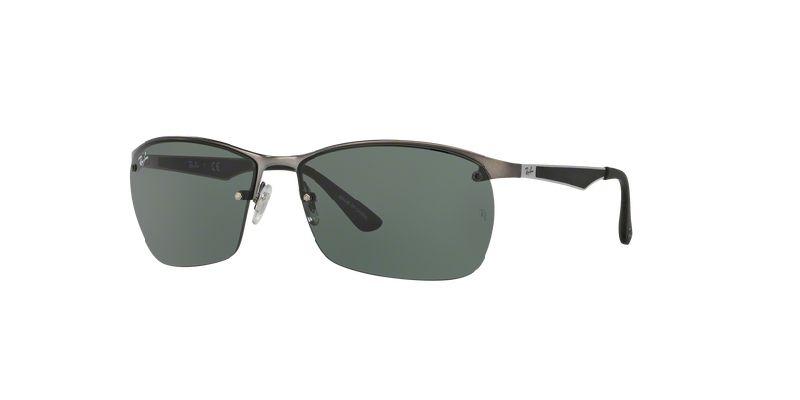 fbe18b79b سعر Ray Ban RayBan® Sunglasses - Half Frame Black Silver RB3550 029 ...
