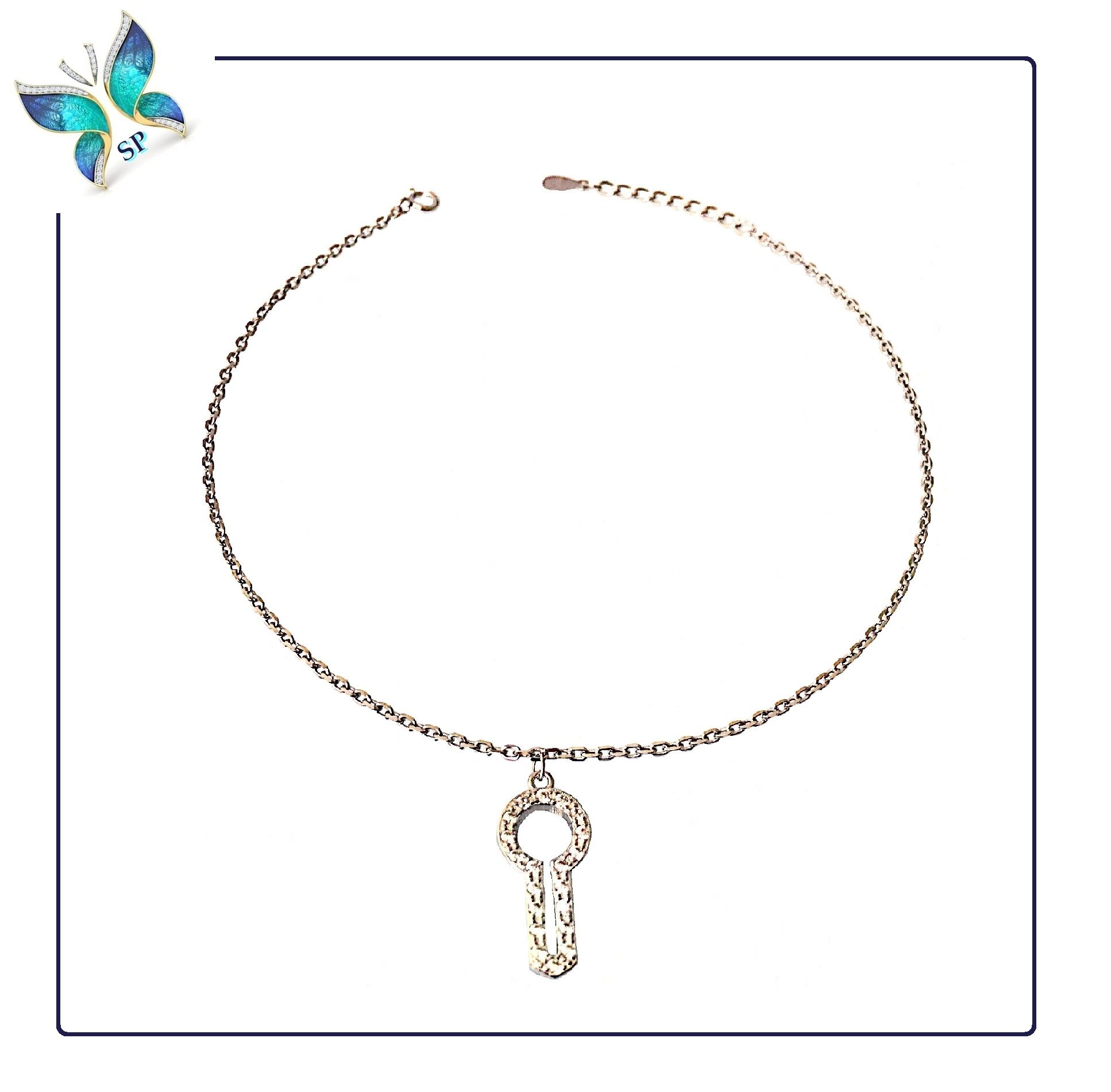 blinglane little anklet plated charm antique key silver products