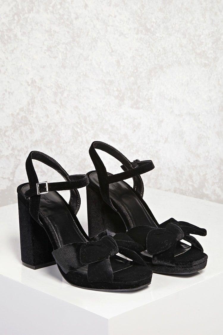 d03a6b88801 Buy Forever21 Velvet Chunky Heels in Egypt
