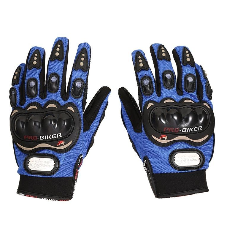 Allwin PRO BIKER Motorcycle Gloves Full Finger Protective Outdoor Riding Warm -black&blue