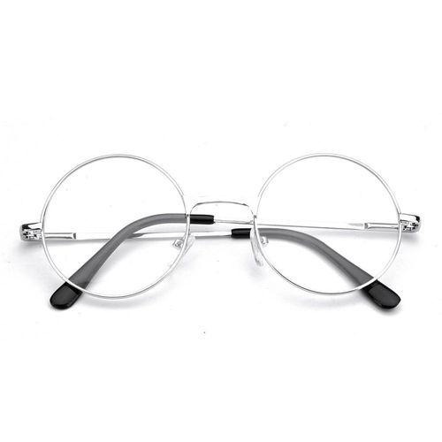 f90e797c75 Buy Fashion Men Women Presbyopic Round Reading Glasses Metal Flat Mirror  Black Eyeglass +2.5 Silver
