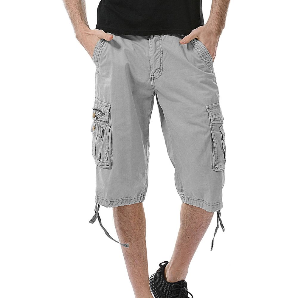 b5e1eecc02 Generic Generic Men's Casual Pure Color Outdoors Pocket Beach Work Trouser Cargo  Shorts Pant A1. updating Prices