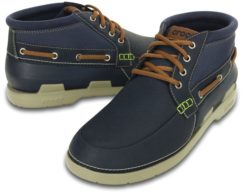 1a655aa44a109 Buy Crocs Men s Beach Line Boat Chukka - Navy Blue in Egypt
