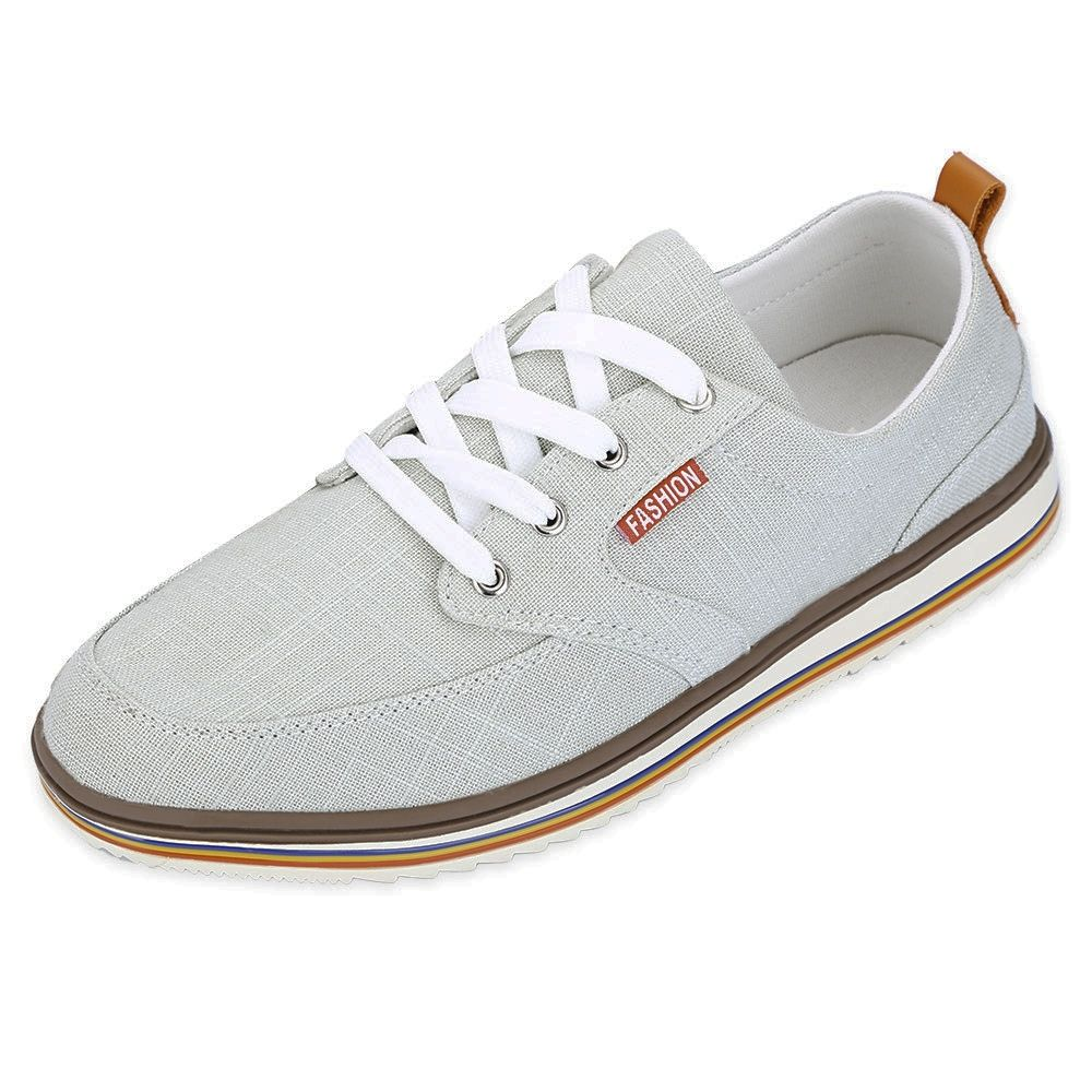 8468c86ef Fashion Casual Pure Color Flax Male Breathable Canvas Shoes | أحذية ...