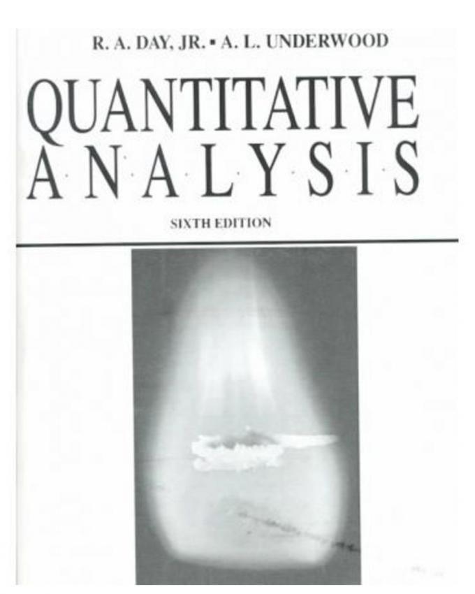 Vogels Quantitative Chemical Analysis