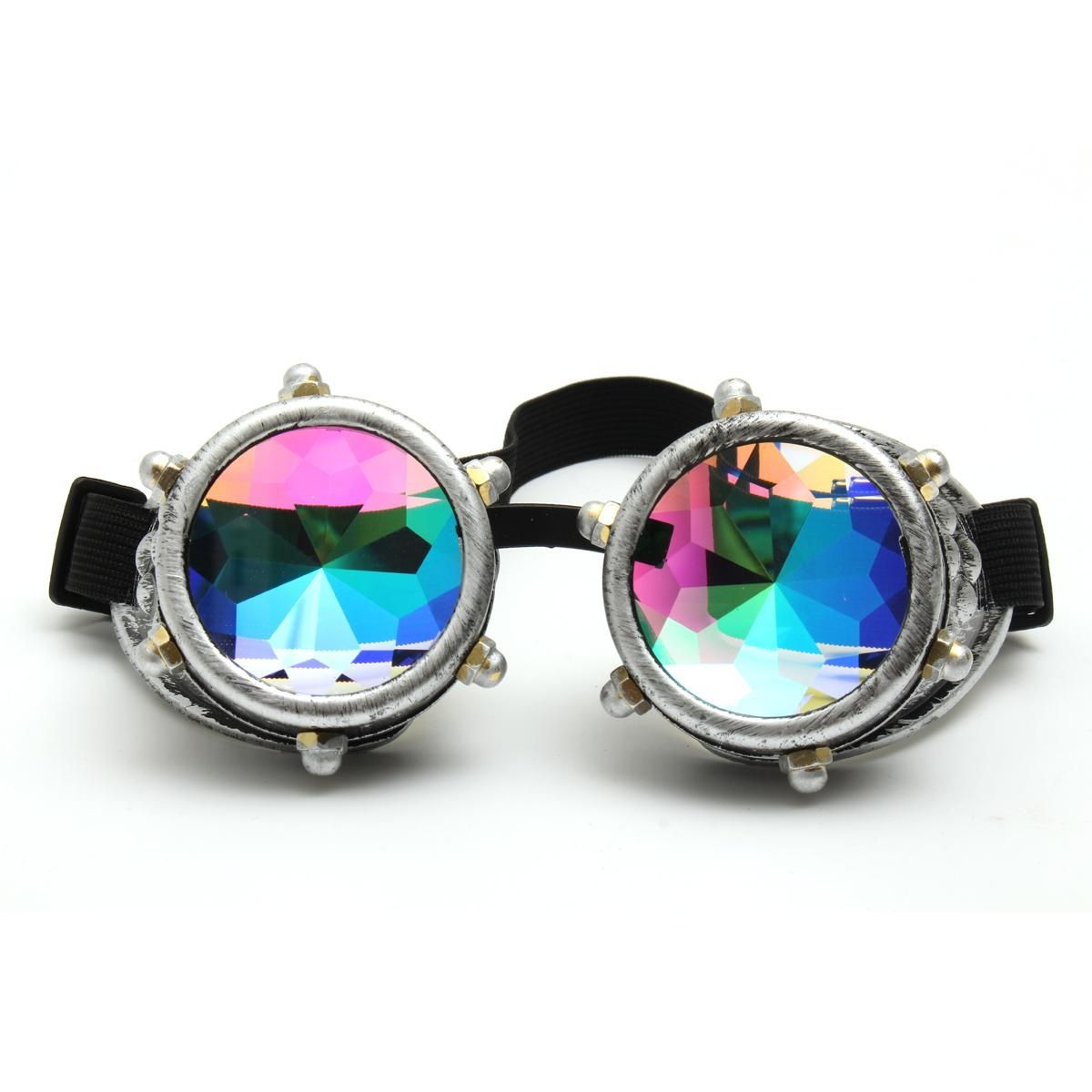 503dfb570a6 Buy Generic Festivals Kaleidoscope Glasses Vintage Rainbow Crystal  Windproof Sunglasses Gift - Silver in Egypt