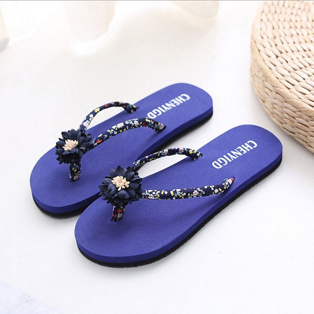 96b18c001 Fashion Ladies Slim Women Beach Flip Flops Flipflops Sandals Shoes ...