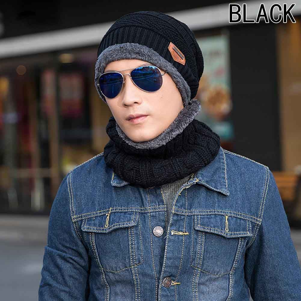 09952fece78 Fashion The New Winter Hat Men And Women Autumn And Winter Knitted Hat Wool Hat  Cap Head Scarf Suit Plus Velvet Thick Scarf Hat