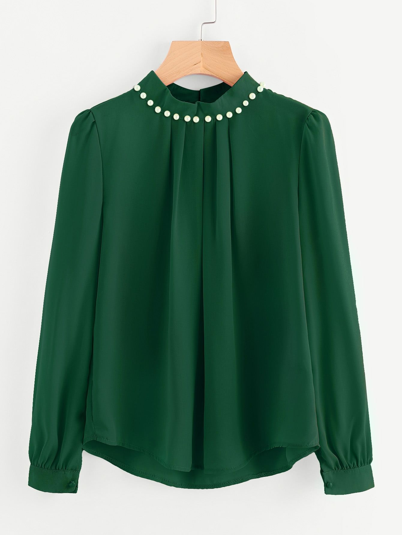 f80c9af810 SHEIN Pearl Beading Puff Sleeve Chiffon Blouse Price in Egypt ...