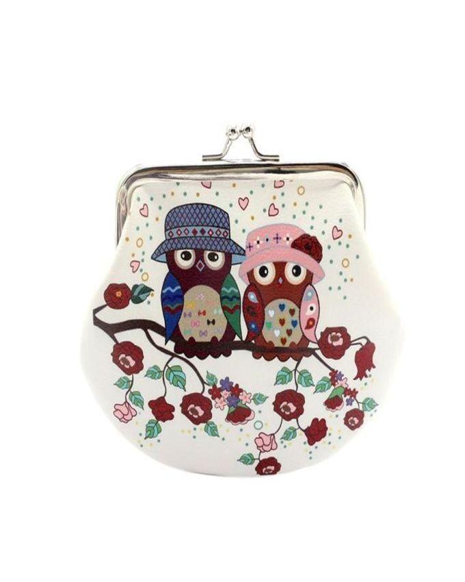 Neworldline Women Lady Retro Vintage Owl Leather Small Wallet Hasp Purse Clutch Bag 3