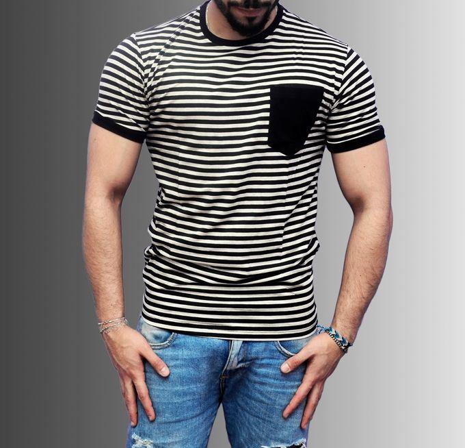 Marley Striped T-Shirt - Black & Grey