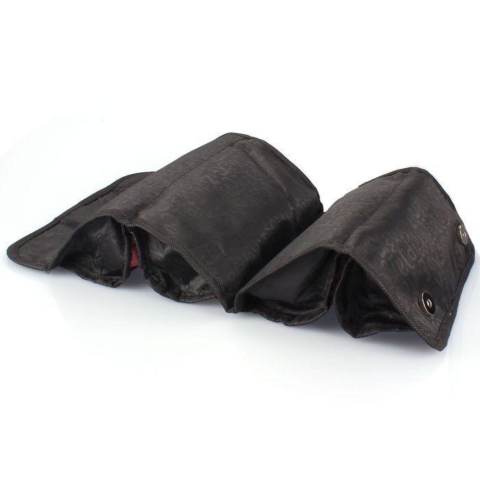 Neworldline Cosmetic Bag Travel 4 Zippered Compartment Makeup Purse Toiletries -Black