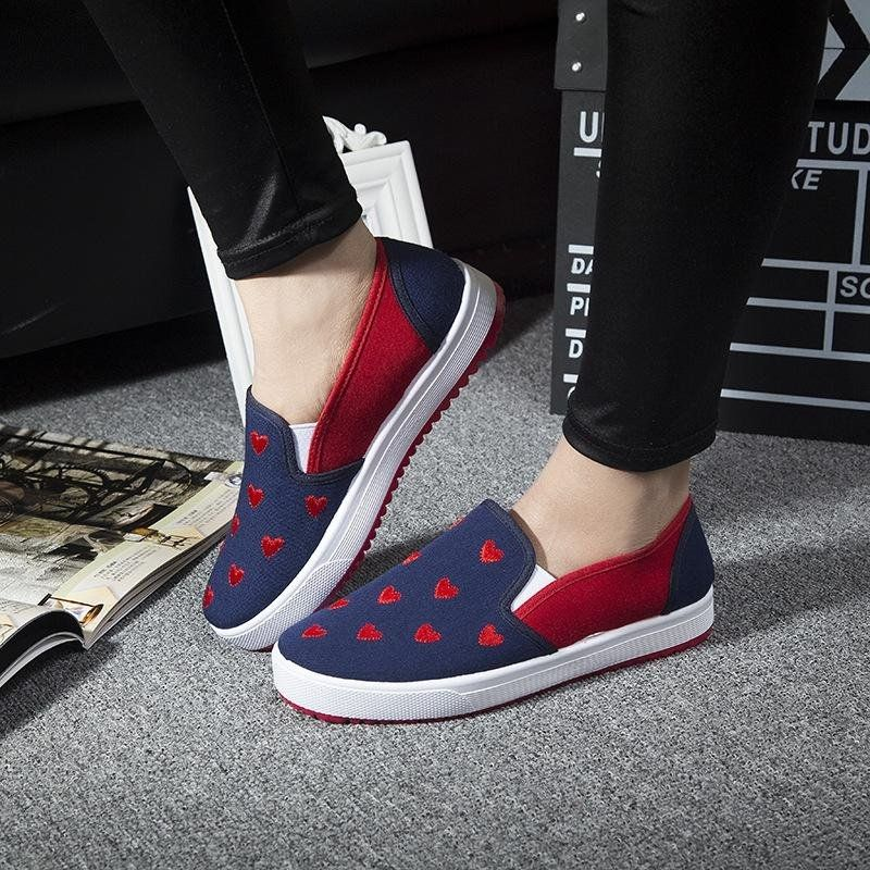 b9136fbfc Fashion 2017 Women Flat Shoes Weave Slip On Boat Canvas Loafers Low Top  Casual Sneakers BLUE