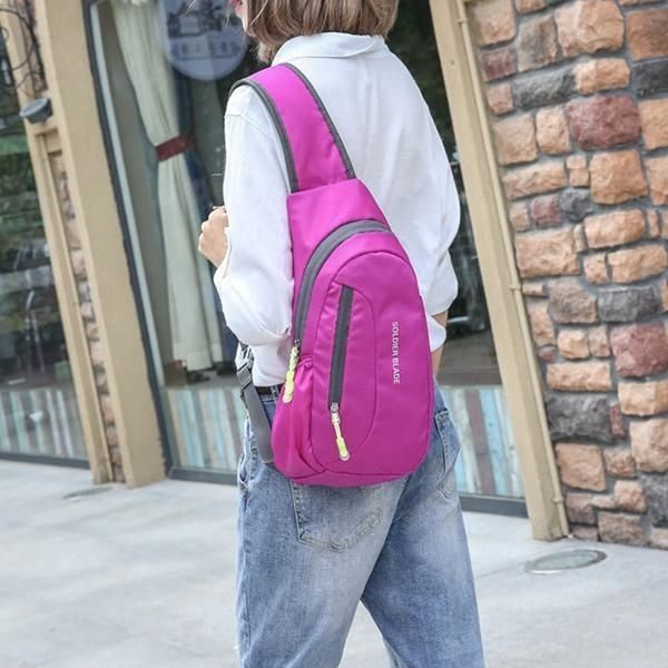Fashion Fashion Men Women Waterproof Chest Pack Riding Bag Shoulder Bag  Outdoor Sports Leisure Bag Rose 6d7ff2a252a6c