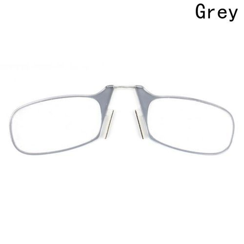 b3cd54609 Fashion New Fashion Clip Nose Reading Glasses SOS Wallet Emergency Glasses  Portable Keychain Older Reading Mirror
