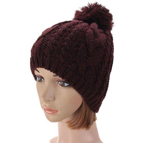 02ef2eb305b Fashion New Fashion Women Men Winter Warm Knit Ski Beanie Ball Wool ...